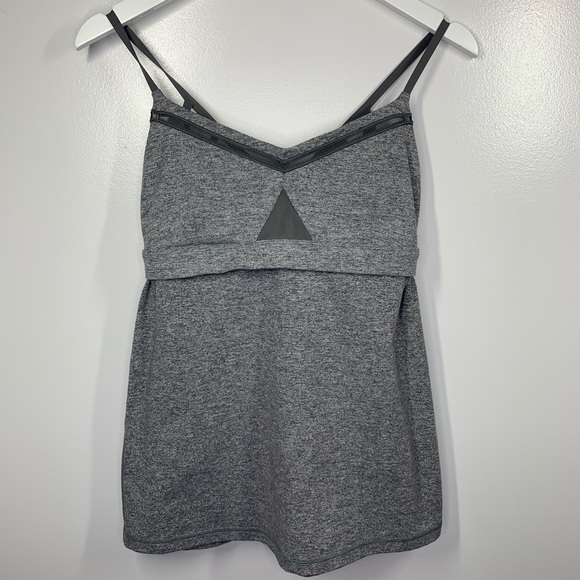 Lululemon Tank Top Built In Bra Cage Back